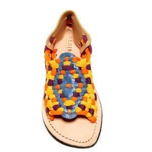 New! Bed stu rainbow sandals